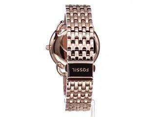Женские часы fossil многофункциональные розовые из нержавеющей стали роскошные брендовые наручные