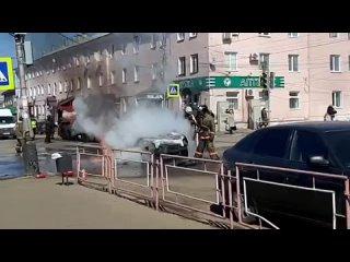 Горит авто. Мичуринск