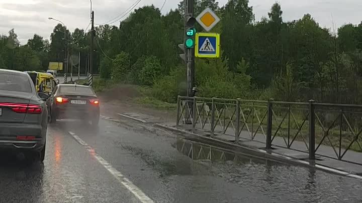 В Парголове на Выборгском шоссе в сторону Сертолова, праворульная Audi. с диким свистом и на большой...