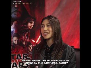 Adam Driver on Star Wars The Last Jedis Press Junket, 2017.