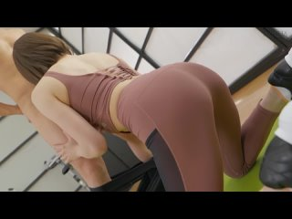 Nanami Tina - Personal Gym Trainer Who Seduces With Pita Bread Nice Ass And Whole Body Sweaty SEX