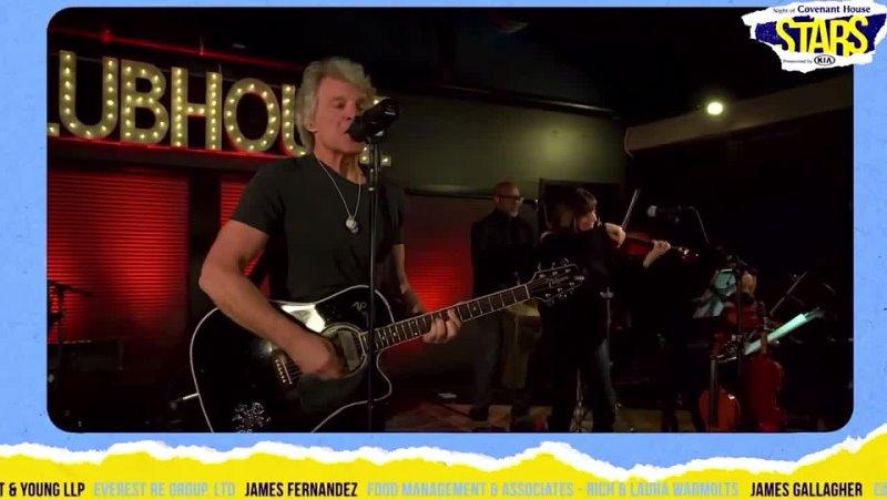 Jon Bon Jovi Livin' On A Prayer Live From Home 2021 Covenant House Stars