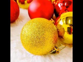 24 шт./компл., шар для украшения новогодней елки, 3 см, 4 см,