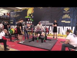 Абрамова Юлия жим лежа 82,5 кг св 55,70 кг