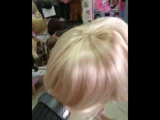 Обзор на #накладку из волос #блонд 💕