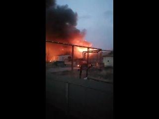На Милореме в Мичуринске случился крупный пожар