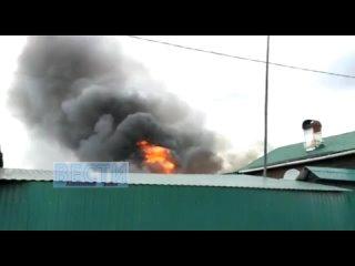 Пожар  на  Володарского