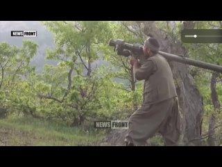Курды с помощью ручных ПЗРК сбивают турецкий вертолет.