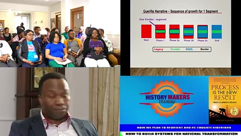 27. APRIL 2019. HOW WE PLAN TO REORIENT AND RE-EDUCATE NIGERIANS. HOW TO BUILD SYSTEMS FO