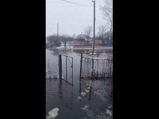 Наводнение в селе Алешино  (Рязанская область, Сасовский район, апрель 2021).