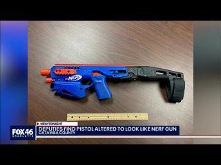 Мужика взяли за хранение наркоты, а дома у него нашли пушки, которые были замаскированы под детские игрушечные пистолеты Nerf