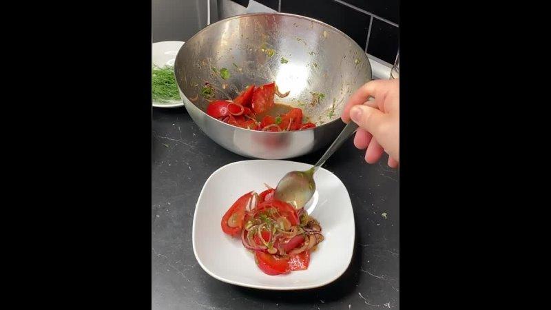 Салат из спелых томатов Хозяйка большого дома Рецепты и советы
