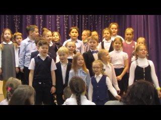 Выступление  детского хора на презентации выставки художника Г. И. Парневой и её учеников