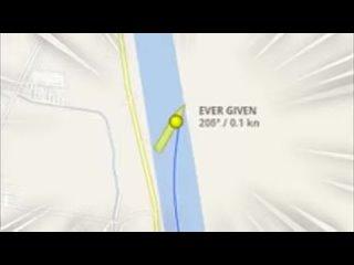MV Evergiven: Suez cargo ship drifting