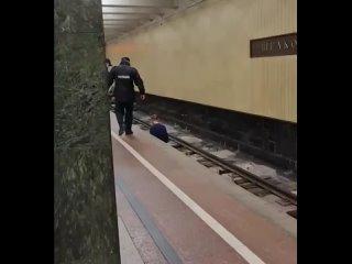 ДТП Москва - Прогулка по рельсам метро