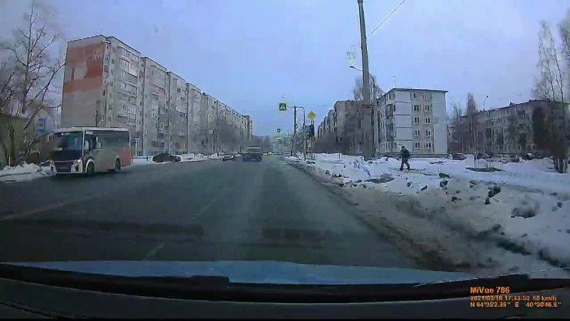 ДТП из за сломанного светофора Архангельск