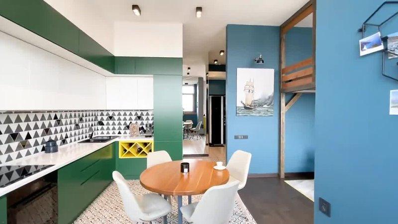 [Ольга Kачанова] РОСКОШНАЯ однокомнатная квартира. Дизайн интерьера однушки. Ремонт и дизайн. Рум тур 360.