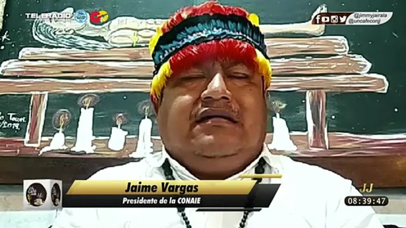 Jaime Vargas Pachakutik estaba atado por la