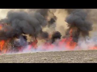 Природный пожар в Дагестане -