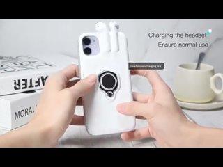 Беспроводные чехлы для телефонов с bluetooth, наушники для iphone 11 pro xs max xr x 6 6s 7 8 plus, беспроводная гарнитура,