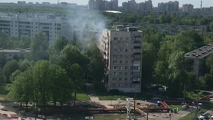 Пожар в доме 18 по улице Руставели