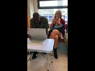 Finding a movie date on the train
