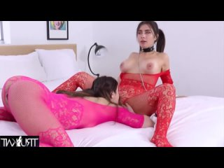 Tru Kait - Ripe Teen lesbians playing with toys and tongues in bed
