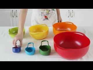 Мерная чашка Радуга, чаша из 8 частей в интернет - магазине