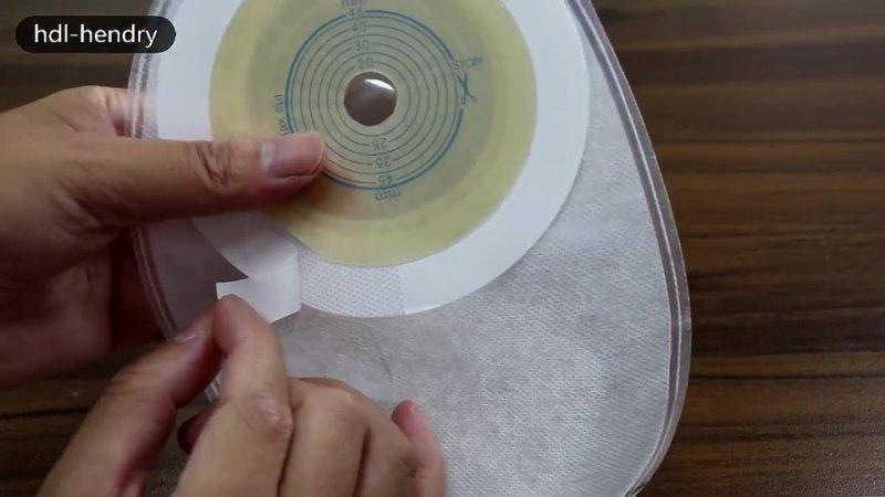 Анти утечка urostomy мешки двухслойные клей прозрачный мешок для сбора мочи 48 мм центр отверстие силиконовая вилка urostomy
