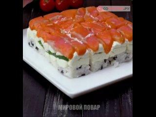 """Как приготовить суши-торт   Доставка суши Кемерово """"Johnny Roll's"""""""