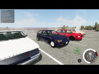 The First Ever 6 Car Burnout In BeamNG. Drive