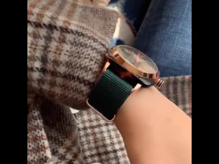 Высококачественные повседневные женские часы с большим циферблатом роскошные кварцевые нейлоновым