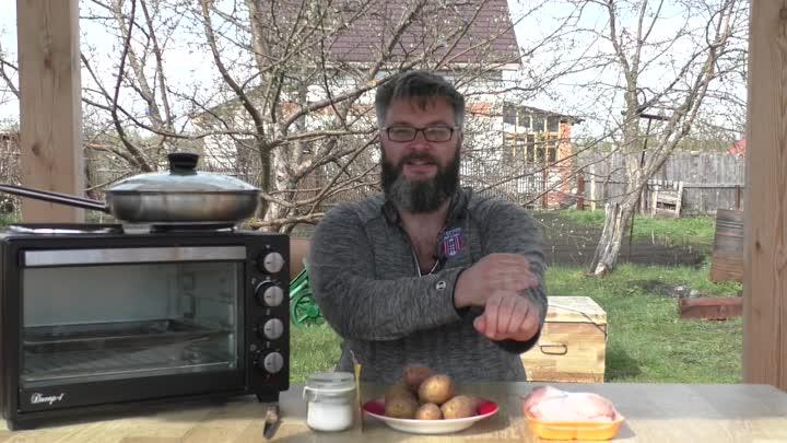Курица с картошкой в духовке. В деле мой жарочный шкаф Великие Реки Днепр-1