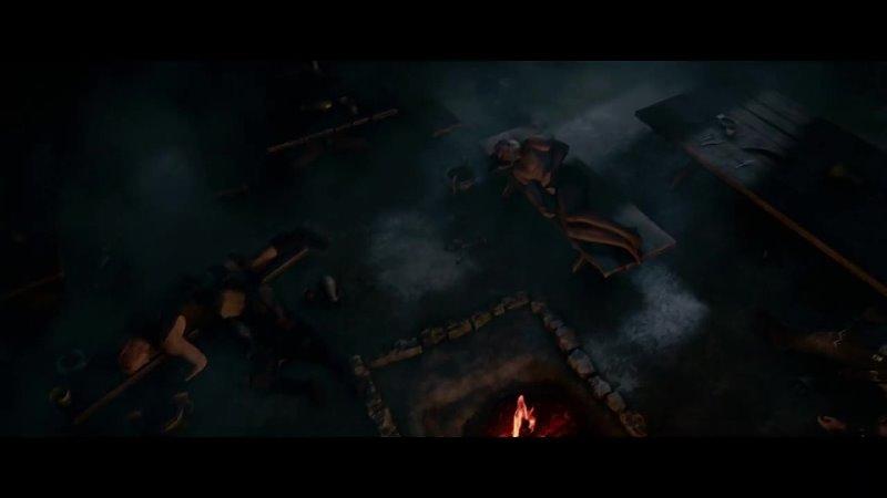 Демон является ночью к Беовульфу Beowulf vs Grendel Беовульф 2007 Beowulf