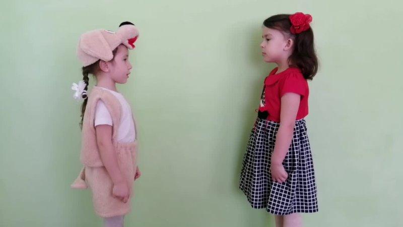 На конкурс Читаем Тукая. Участники № 47 - Ульяна Григорьева, 4 года, и Мадина Садыкова, 5 лет, Мамадышский район