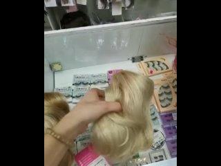 Обзор на резинки из волос блонд