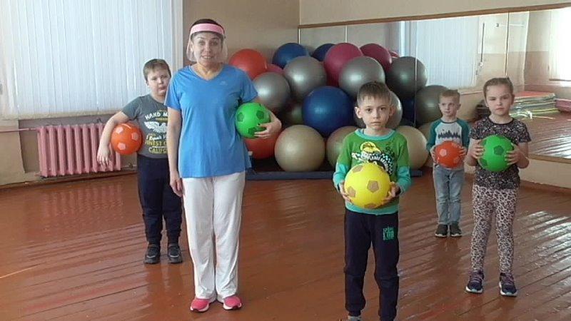 Мастер-клас по фитнесу Будем мы с мячом дружить