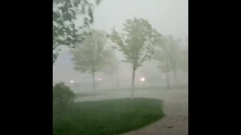 Шквалистый ветер и ливень в Муроме Владимирская область 15 05 2021