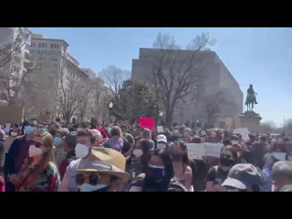 Митинг против убийства азиаток, Вашингтон, округ Колумбия