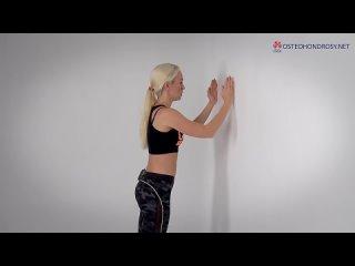 ►Простое УПРАЖНЕНИЕ ОТ СУТУЛОСТИ. Растяжка грудных мышц и передней поверхности п