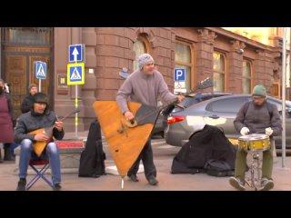 Трио музыкантов. Колхозный панк. Сектор газа