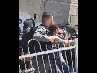 Moment de l'arrestation des jeuness Mohammad Rajabi et Rami Masalmeh et de leur agression.