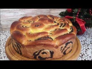 Пирог с маком РОЗА рецепт. Пышная домашняя выпечка БЕЗ СЛИВОЧНОГО МАСЛА