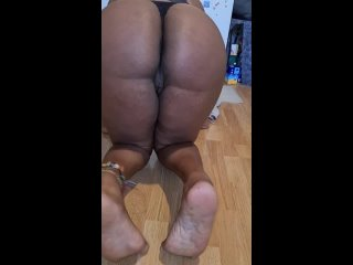 Latina Step Sister Teasing in Wedgie Thong Pussy Slip and Thick Ebony Booty - Must Watch 4K