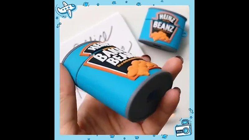Ketchup жареные beanz box мягкий силиконовый защитный чехол для наушников airpods pro зарядка