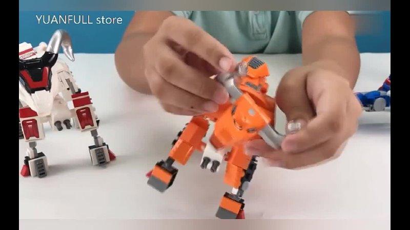 Аниме фигурки деформация робот строительные блоки война зверь мех трансформация кирпичи модуль развивающие игрушки детские