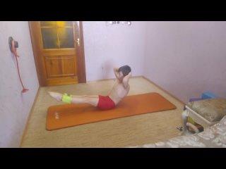 Комплекс упражнений для пресса. A set of exercises for the press