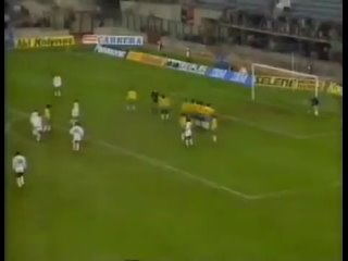 1990 год. Сборная мира vs Бразилия. Гол Хаджи