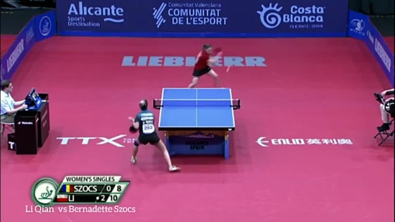 WS _ Li Qian (POL) vs Bernadette Szocs (ROU) _ ITTF European Championships Highl