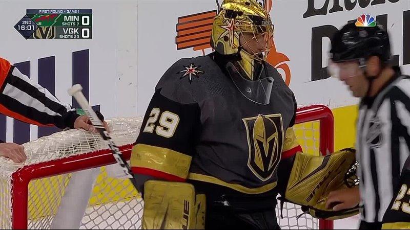 НХЛ Великолепный сейв Марка Андре Флери в матче с Миннесотой